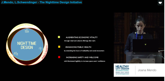 Introducing Nighttime Design to SALUS Healthy City Design conference 2019 in London